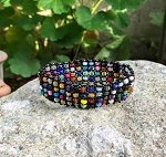 Elastic Slip On Bracelet with Multicolor Beads