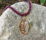 Oval Garden Pendant Necklace in Various Colors