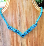 Wide V-Shaped Choker with Crystal Beads