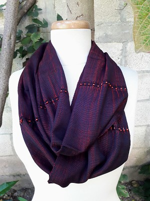 Infinity Scarf with Beads (Available in Multiple Colors)
