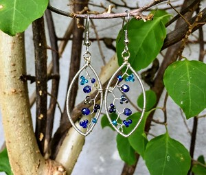 Oval Garden Earrings in Various Colors