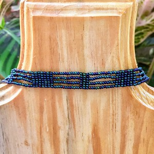 Rectangle and Striped Choker